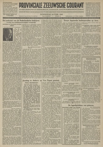Provinciale Zeeuwse Courant 1942-02-26