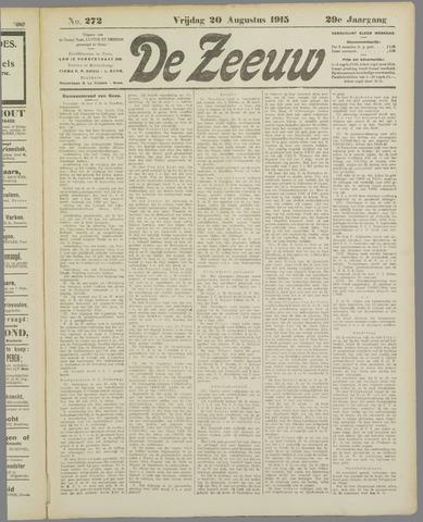 De Zeeuw. Christelijk-historisch nieuwsblad voor Zeeland 1915-08-20