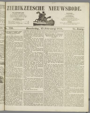 Zierikzeesche Nieuwsbode 1851-02-13