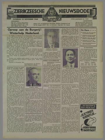 Zierikzeesche Nieuwsbode 1940-11-23