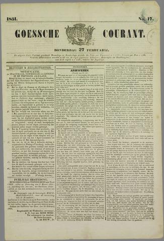 Goessche Courant 1851-02-27
