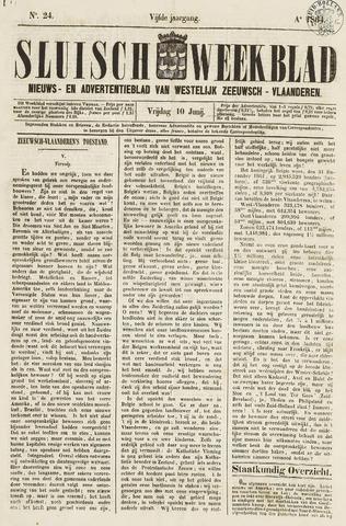 Sluisch Weekblad. Nieuws- en advertentieblad voor Westelijk Zeeuwsch-Vlaanderen 1864-06-10