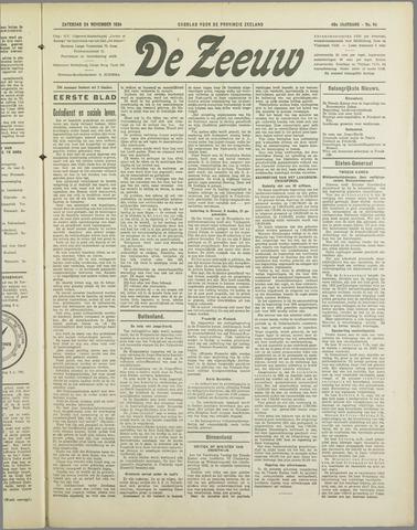 De Zeeuw. Christelijk-historisch nieuwsblad voor Zeeland 1934-11-24