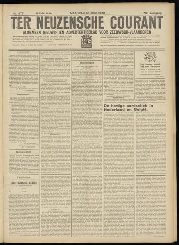 Ter Neuzensche Courant. Algemeen Nieuws- en Advertentieblad voor Zeeuwsch-Vlaanderen / Neuzensche Courant ... (idem) / (Algemeen) nieuws en advertentieblad voor Zeeuwsch-Vlaanderen 1938-06-13