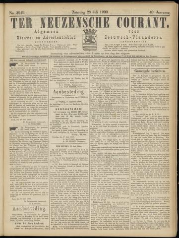 Ter Neuzensche Courant. Algemeen Nieuws- en Advertentieblad voor Zeeuwsch-Vlaanderen / Neuzensche Courant ... (idem) / (Algemeen) nieuws en advertentieblad voor Zeeuwsch-Vlaanderen 1900-07-28