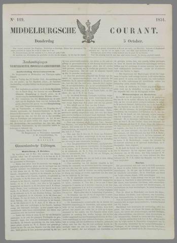 Middelburgsche Courant 1854-10-05