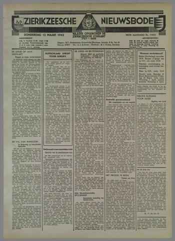 Zierikzeesche Nieuwsbode 1942-03-12