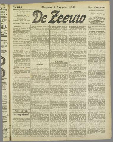 De Zeeuw. Christelijk-historisch nieuwsblad voor Zeeland 1920-08-09