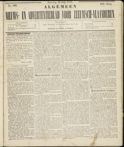 Ter Neuzensche Courant. Algemeen Nieuws- en Advertentieblad voor Zeeuwsch-Vlaanderen / Neuzensche Courant ... (idem) / (Algemeen) nieuws en advertentieblad voor Zeeuwsch-Vlaanderen 1870-07-23
