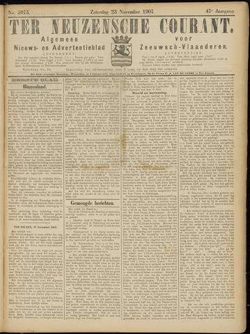 Ter Neuzensche Courant. Algemeen Nieuws- en Advertentieblad voor Zeeuwsch-Vlaanderen / Neuzensche Courant ... (idem) / (Algemeen) nieuws en advertentieblad voor Zeeuwsch-Vlaanderen 1907-11-23