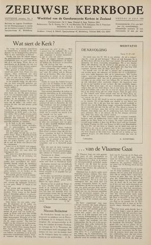 Zeeuwsche kerkbode, weekblad gewijd aan de belangen der gereformeerde kerken/ Zeeuwsch kerkblad 1959-07-24