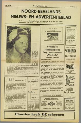 Noord-Bevelands Nieuws- en advertentieblad 1961-01-28