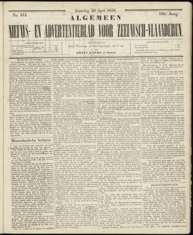 Ter Neuzensche Courant. Algemeen Nieuws- en Advertentieblad voor Zeeuwsch-Vlaanderen / Neuzensche Courant ... (idem) / (Algemeen) nieuws en advertentieblad voor Zeeuwsch-Vlaanderen 1870-04-30