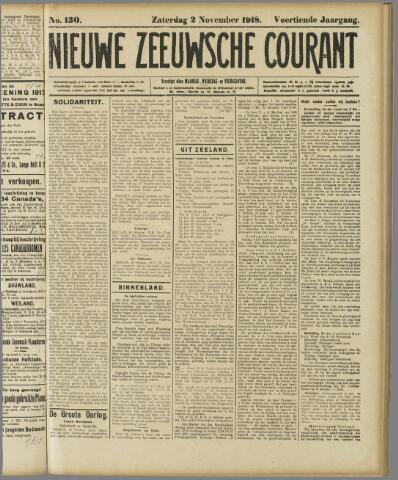 Nieuwe Zeeuwsche Courant 1918-11-02