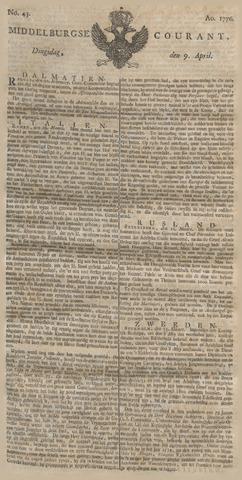Middelburgsche Courant 1776-04-09