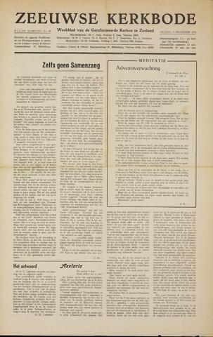 Zeeuwsche kerkbode, weekblad gewijd aan de belangen der gereformeerde kerken/ Zeeuwsch kerkblad 1955-12-09