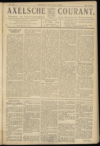 Axelsche Courant 1936-07-10