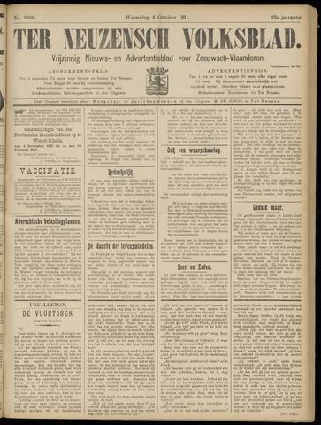 Ter Neuzensch Volksblad. Vrijzinnig nieuws- en advertentieblad voor Zeeuwsch- Vlaanderen / Zeeuwsch Nieuwsblad. Nieuws- en advertentieblad voor Zeeland 1911-10-04