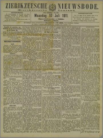 Zierikzeesche Nieuwsbode 1911-07-10