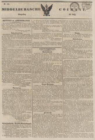 Middelburgsche Courant 1843-07-25