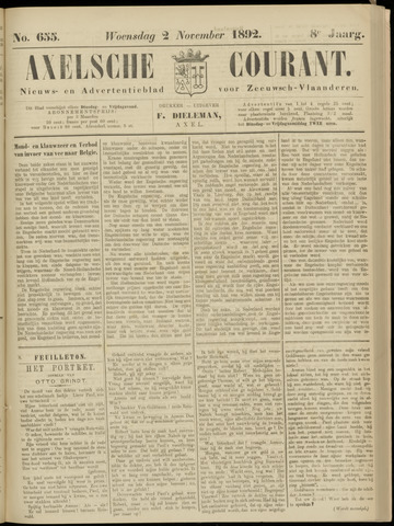 Axelsche Courant 1892-11-02