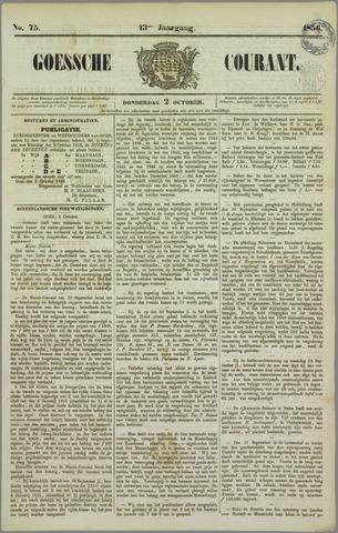 Goessche Courant 1856-10-02