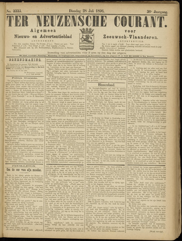Ter Neuzensche Courant. Algemeen Nieuws- en Advertentieblad voor Zeeuwsch-Vlaanderen / Neuzensche Courant ... (idem) / (Algemeen) nieuws en advertentieblad voor Zeeuwsch-Vlaanderen 1896-07-28