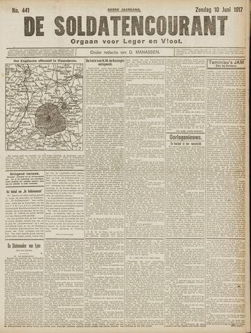 De Soldatencourant. Orgaan voor Leger en Vloot 1917-06-10
