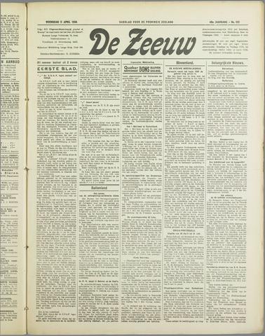 De Zeeuw. Christelijk-historisch nieuwsblad voor Zeeland 1934-04-11