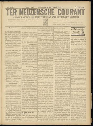 Ter Neuzensche Courant. Algemeen Nieuws- en Advertentieblad voor Zeeuwsch-Vlaanderen / Neuzensche Courant ... (idem) / (Algemeen) nieuws en advertentieblad voor Zeeuwsch-Vlaanderen 1934-09-10