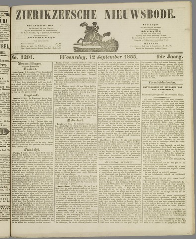 Zierikzeesche Nieuwsbode 1855-09-12