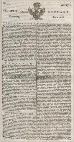 Middelburgsche Courant 1771-04-04