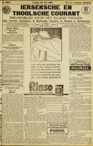Ierseksche en Thoolsche Courant 1928-07-20