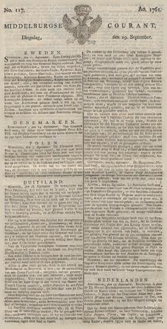 Middelburgsche Courant 1761-09-29