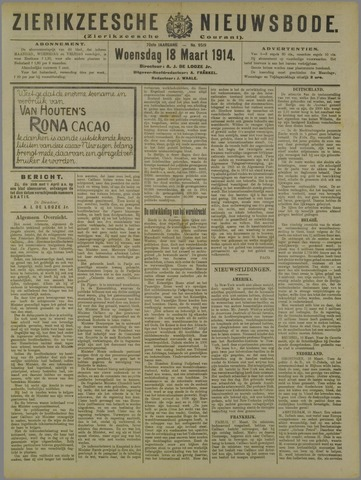 Zierikzeesche Nieuwsbode 1914-03-18