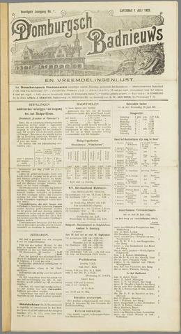 Domburgsch Badnieuws 1922