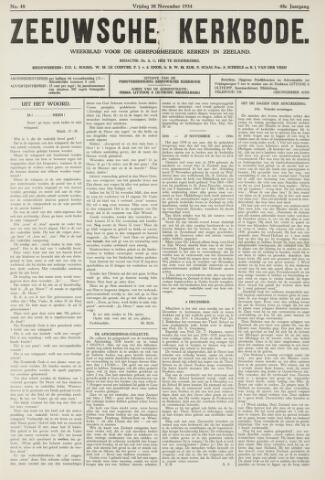 Zeeuwsche kerkbode, weekblad gewijd aan de belangen der gereformeerde kerken/ Zeeuwsch kerkblad 1934-11-30