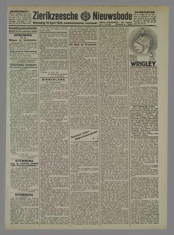 Zierikzeesche Nieuwsbode 1933-04-19