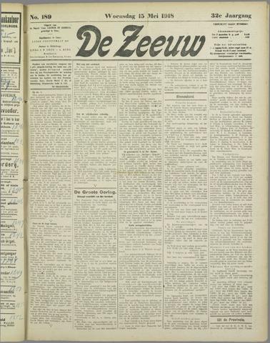 De Zeeuw. Christelijk-historisch nieuwsblad voor Zeeland 1918-05-15