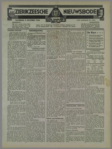 Zierikzeesche Nieuwsbode 1940-10-05