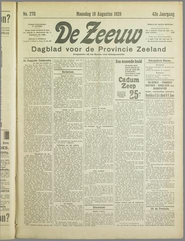 De Zeeuw. Christelijk-historisch nieuwsblad voor Zeeland 1929-08-19