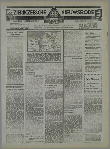 Zierikzeesche Nieuwsbode 1941-09-14