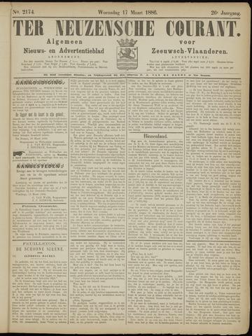 Ter Neuzensche Courant. Algemeen Nieuws- en Advertentieblad voor Zeeuwsch-Vlaanderen / Neuzensche Courant ... (idem) / (Algemeen) nieuws en advertentieblad voor Zeeuwsch-Vlaanderen 1886-03-17