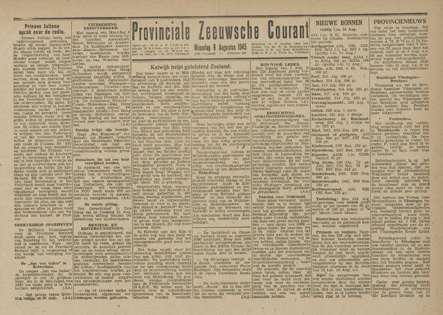Provinciale Zeeuwse Courant 1945-08-06