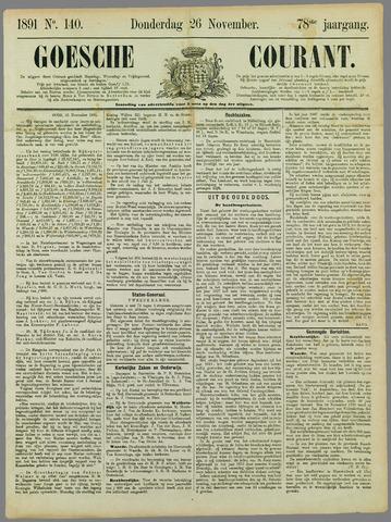 Goessche Courant 1891-11-26