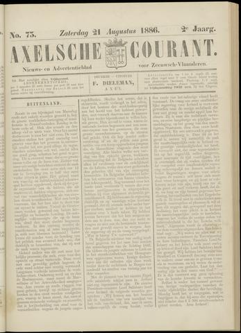Axelsche Courant 1886-08-21
