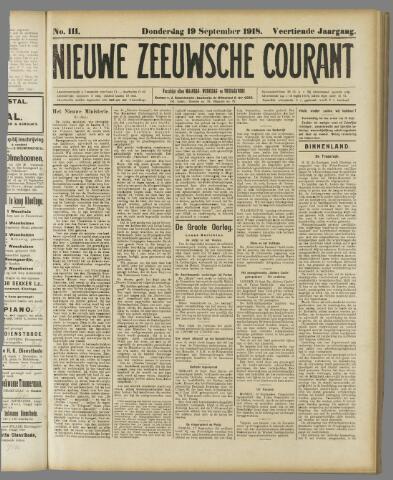 Nieuwe Zeeuwsche Courant 1918-09-19