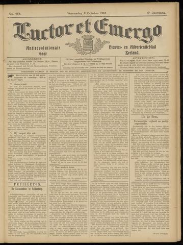 Luctor et Emergo. Antirevolutionair nieuws- en advertentieblad voor Zeeland / Zeeuwsch-Vlaanderen. Orgaan ter verspreiding van de christelijke beginselen in Zeeuwsch-Vlaanderen 1912-10-09