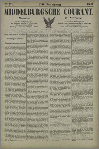 Middelburgsche Courant 1883-11-26