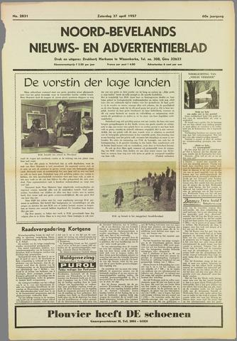 Noord-Bevelands Nieuws- en advertentieblad 1957-04-27